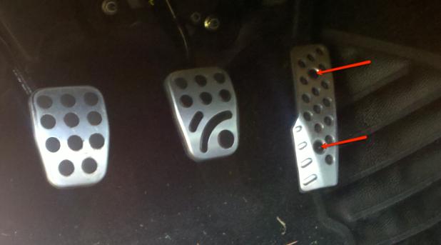 Mazda Rx8 pedal setup